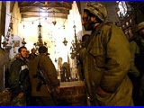 Pictures from inside the Nativity Church in Bethlehem